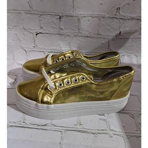 New Newport News GOLD platform mesh sneaker
